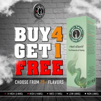 Buy 4 Get 1 Free 10ml e Liquid Juice Bulk Deal