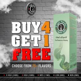 Buy 4 Get 1 Free 10ml e Liquid Juice Bulk Deal