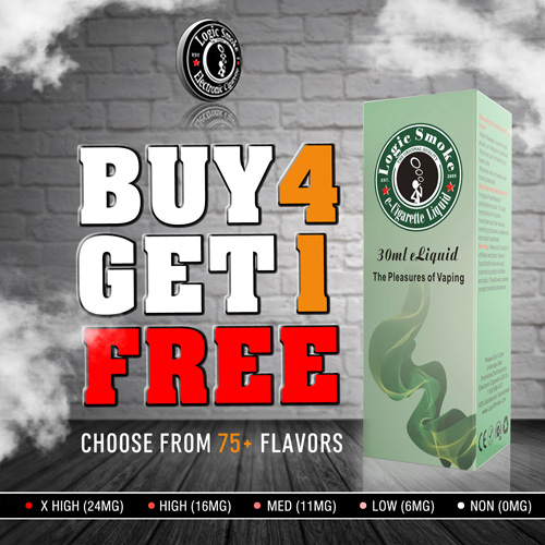 Buy 4 Get 1 Free 30ml e Liquid Bulk Deal