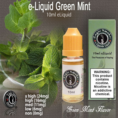 LogicSmoke 10ml Green Mint  e Liquid