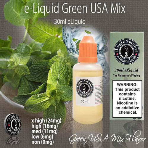 LogicSmoke 30ml Green USA Mix e Liquid