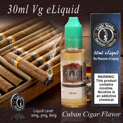 30ml Vg Cuban Cigar Flavored 90 VG 10 PG e Juice