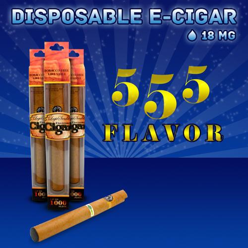 Disposable Electronic Cigar 555 Tobacco Flavor