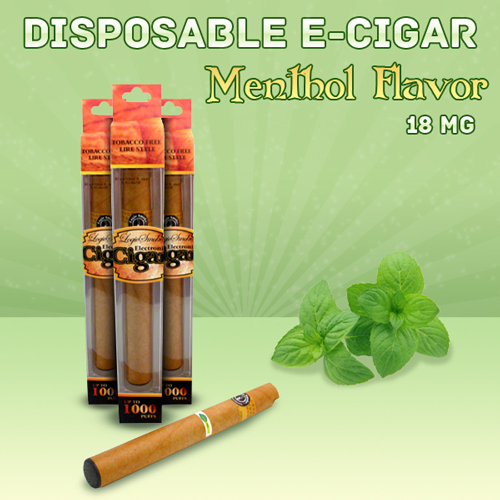Disposable e Cigar Menthol Flavor